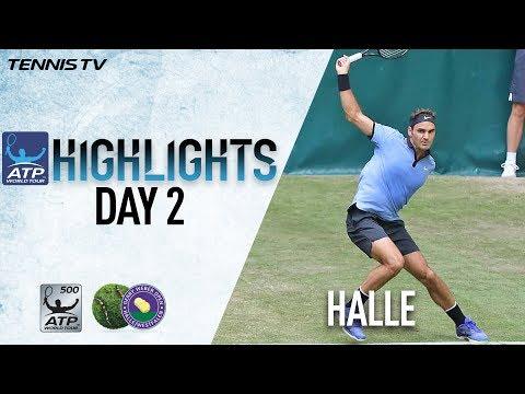 Highlights: Federer, Nishikori, Zverev Move To Second Round In Halle