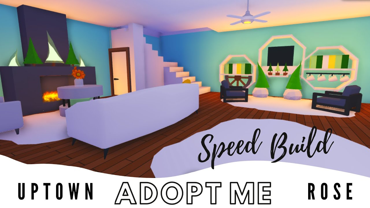 Adopt Me Speed Build Adopt Me Living Room Adopt Me Estate House Adopt Me Building Hacks Youtube