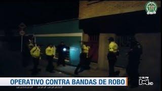 Operativo sin precedentes en Bogotá contra bandas dedicadas al hurto