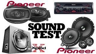 sound Test - Pioneer TS-A1600C  TS-A6970F  Sony XS-NW1202E  Sony DSX-A410BT
