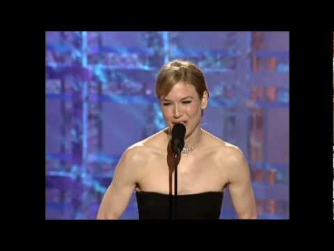 Reene Zellweger Wins Best Actress Motion Picture Musical or Comedy - Golden Globes 2001