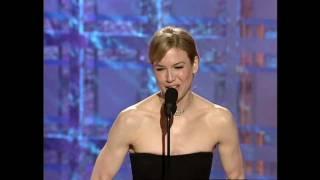 Reene Zellweger Wins Best Actress Motion Picture Musical or Comedy - Golden Globes 2001