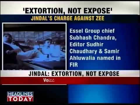 jindal exposes zee group s extortion attempt youtube