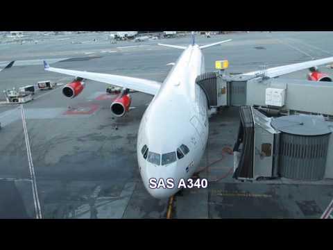 SAS A340 *new* Business Class. San Francisco to Copenhagen