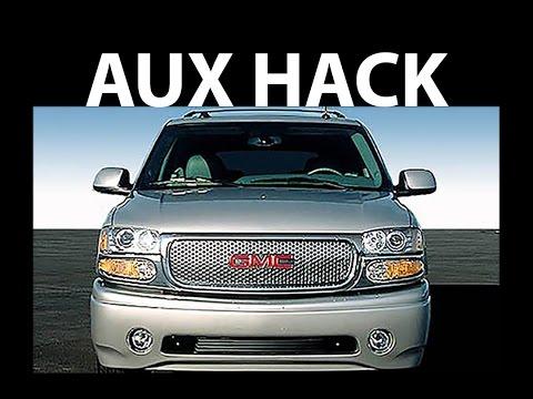 GMC yukon aux input DIY hack