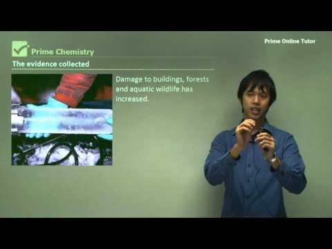 √ Increasing levels of acidic gases in the atmosphere | Acidic Environment | iitutor