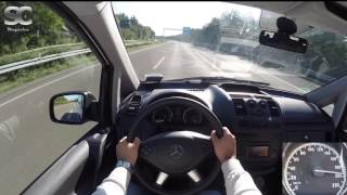 Mercedes-Benz Vito 116 CDI (2016) on German Autobahn - POV Top Speed Drive