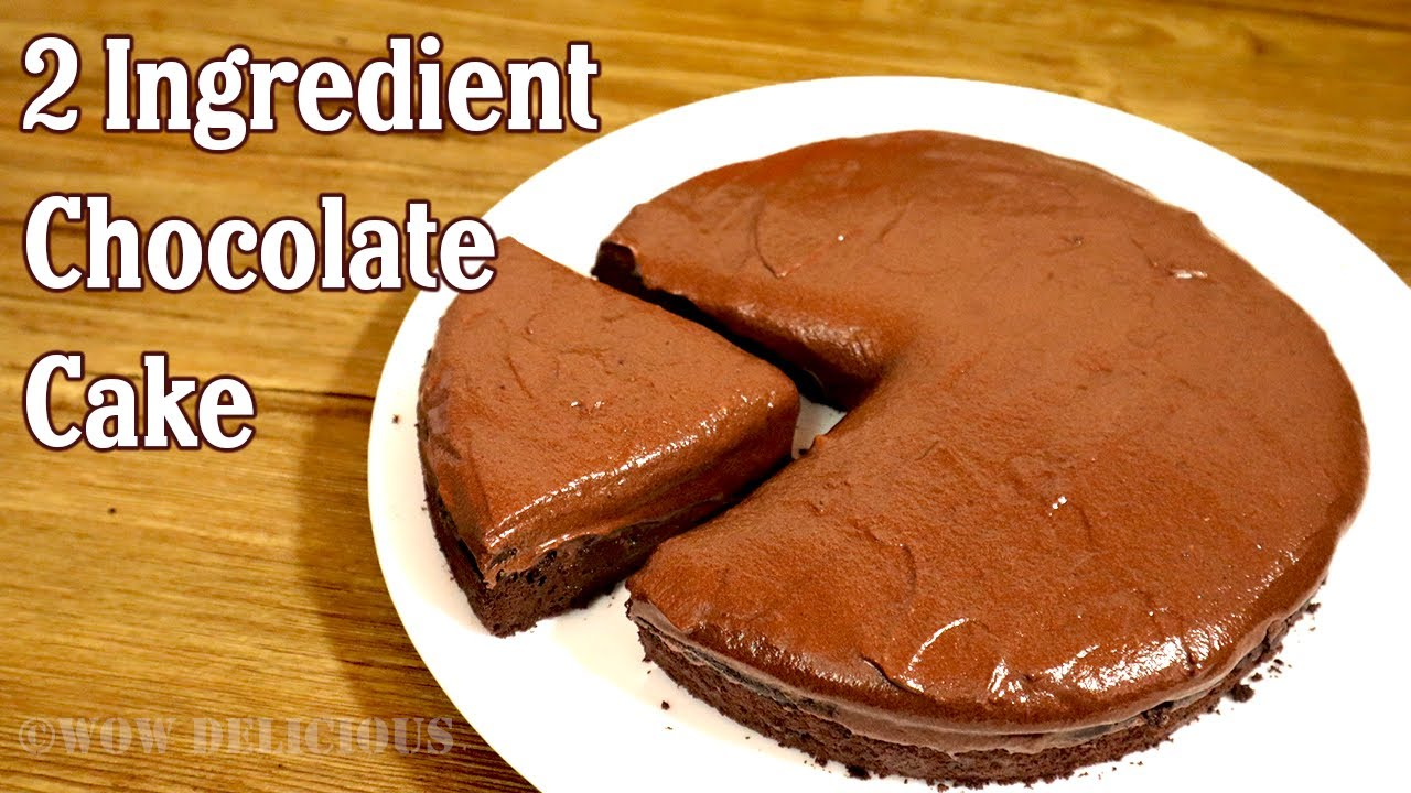 2 Ingredient Chocolate Cake | Without Oven, Maida | Chocolate Cake With Only 2 Ingredients