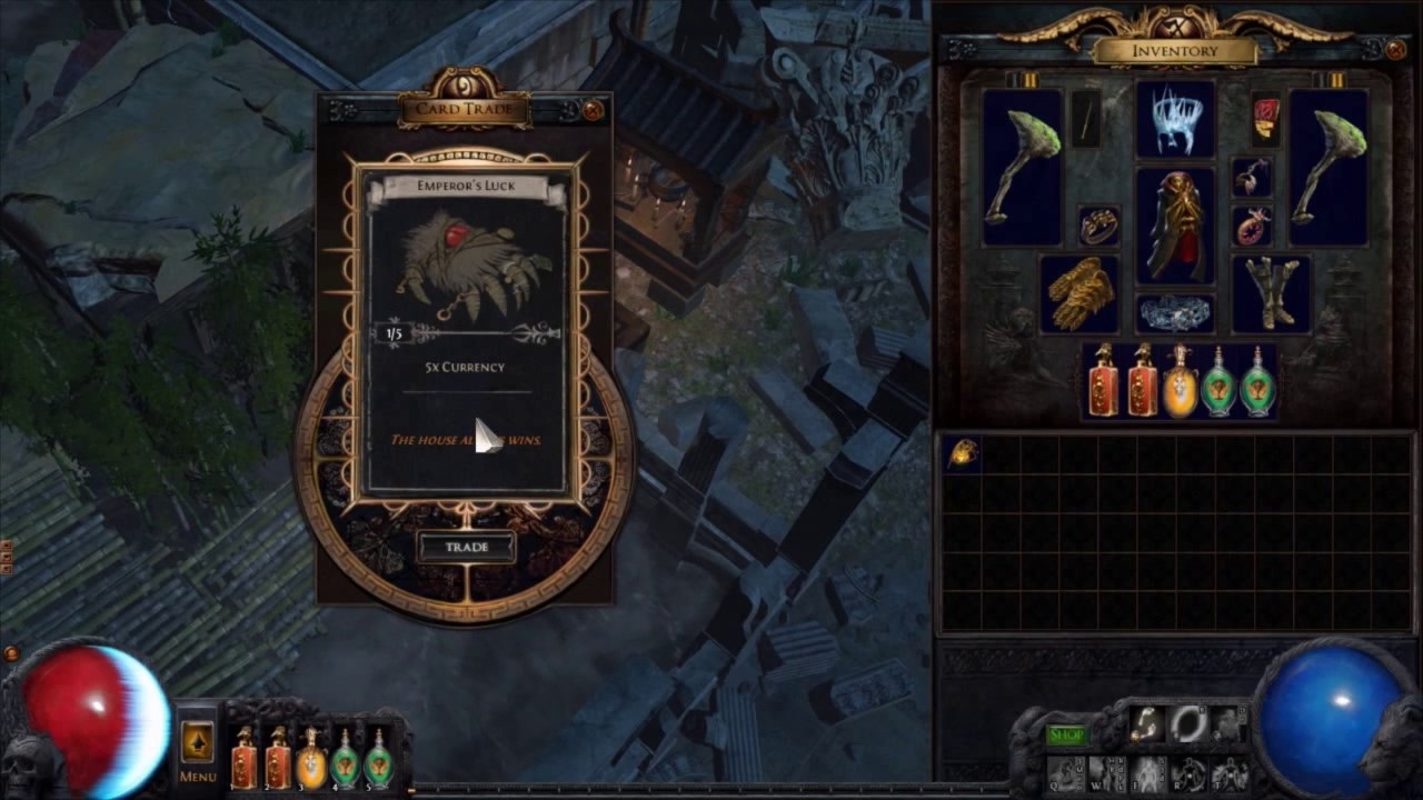 Path of Exile : Trading Divination Cards [Part 1] [10 Cards] - YouTube