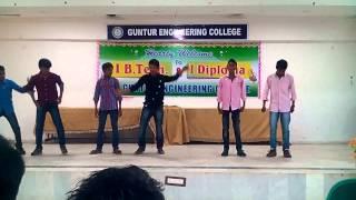 Repeat youtube video Guntur engineering college welcome party