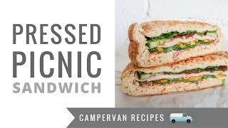 Road Trip Food! 🚐🚙🚎🚀Pressed Picnic Sandwich - the ULTIMATE Travel Food Recipe