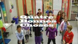 Quatre Bonnes Choses music video for children for learning French