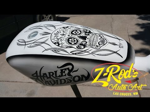 Pinstriping a Harley Tank with Z-Rod