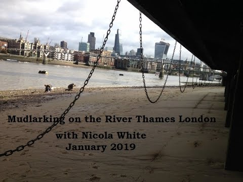 Mudlarking on the River Thames London - searching for treasures in the Thames mud