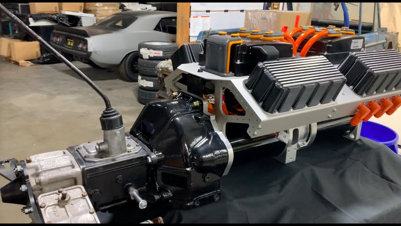electric gte-253 crate motor  u0026 toyota fj40 manual transmission and t-case