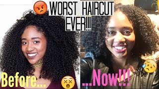 😡PISSED! Stylist Cuts 9 Inches off My Waistlength Natural Hair!!!!