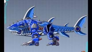 Rô bốt biến hình cá mập xanh, lắp ghép rô bốt biến hình cá mập, siêu nhân biến hình cá mập