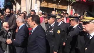 مصر العربية |  القيادات الننفيذية بالإسكندرية تشارك في جنازة قائد كمين النقب