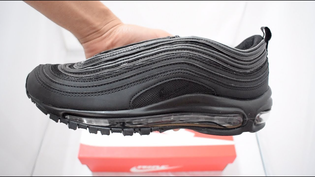 low cost 950a1 44ea2 Nike Air Max 97 Triple Black 2018 Unboxing