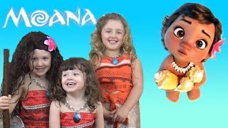 moana movie songs toys and bath time fun with baby moana the disney toy collector
