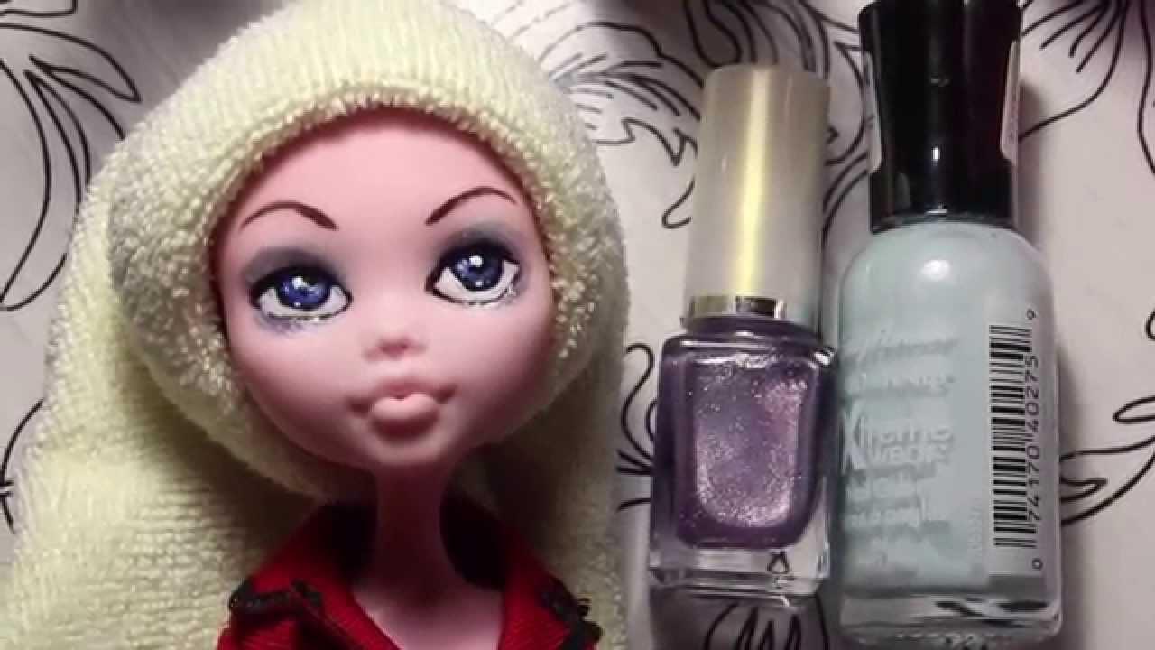 Как кукле монстер хай покрасить волосы