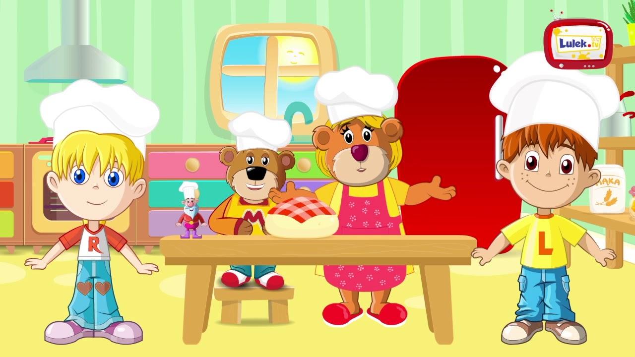 Mało nas! Piosenka dla małych kucharzy.@Kanał dla dzieci - Lulek.tv