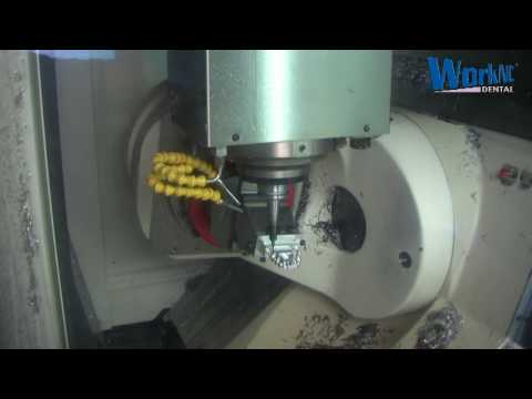 CNC 5 axis Dental CAD/CAM Complete Bridge Machining