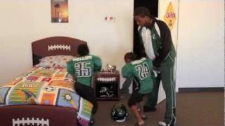 Kids Bed With Upholstered Football Theme