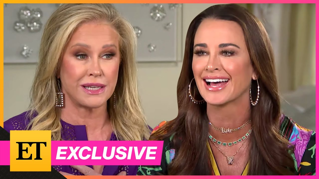 Kyle Richards runs away from bees in a panic after being stung