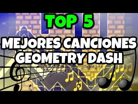 ¡TOP 5 LAS MEJORES CANCIONES DE GEOMETRY DASH! - MiKha