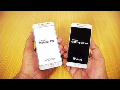 Samsung Galaxy C8 vs Galaxy C5 Pro Speed Test [Urdu/Hindi]