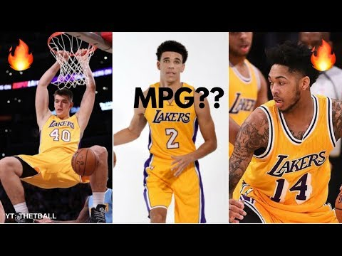 Projecting the Los Angeles Lakers Minutes Distribution // 2017-18 NBA Season