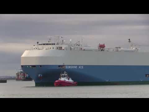 Sunshine Ace Vehicles Carrier arriving into Southampton's Oc