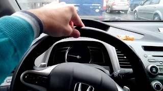 Уводит руль на неровностях дороги Honda Civic