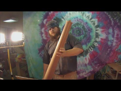 Woodturning-Simple Custom Sapele Stair Newel Post