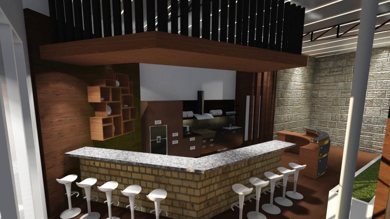 Desain Cafe Taman Minimalis Arsitekhom