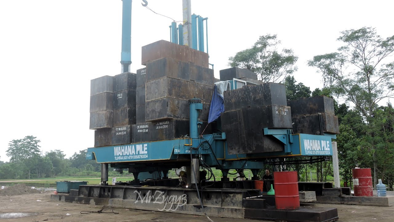Hydraulic Static Pile Driver Piling Machine Working