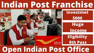 Indian Post Franchise, Invest Rs. 5,000