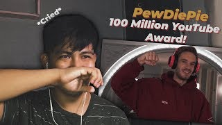 Unboxing 100 MIL YouTube AWARD!! by PewDiePie - (REACTION) *CRIED*