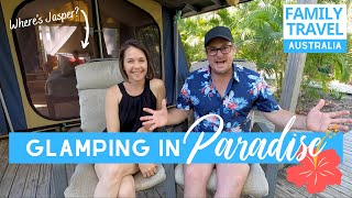 GLAMPING IN PARADISE | Great Keppel Island Queensland | Caravanning Family Travel Australia EP 51