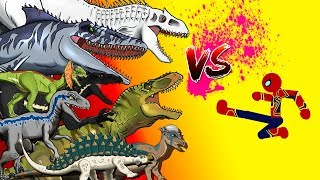 Dinosaurs Battle | Super Hero VS  Jurassic World Dinosaurs