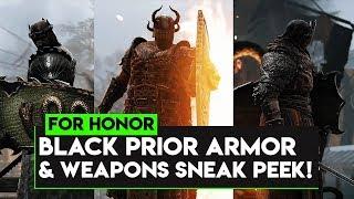 For Honor: BLACK PRIOR ARMOR & WEAPONS SNEAK PEEK! LAWBRINGER BALANCE IN SEASON 9