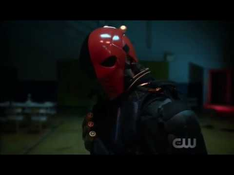 Deathstroke in Action Arrow