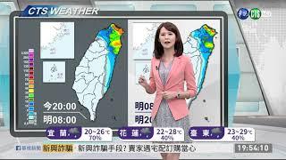 陸上強風特報 8到10級強陣風 | 華視新聞 20191121