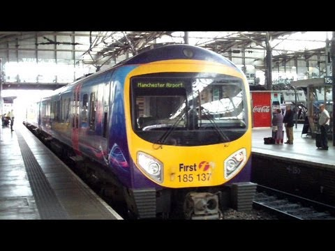 Manchester Airport Train from Leeds via Piccadilly Rail Station in Manchester City Centre