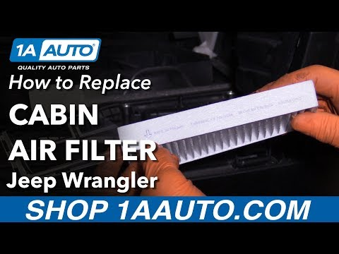 How to Replace Cabin Air Filter 06-18 Jeep Wrangler