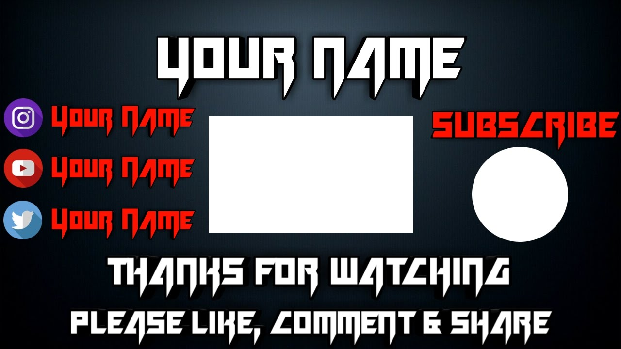How To Make Outro With End Screen Annotations (youtube Tutorial)