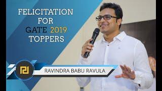 GATE 2019 Toppers Felicitation Event Highlights by RAVINDRABABU RAVULA