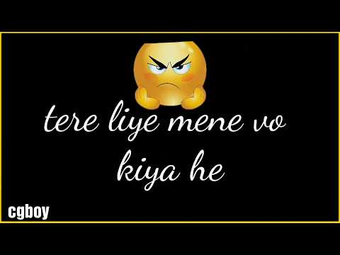 Despacito hindi version __ love song __ layrics __ emoji __ whatsapp status 2017 __ cgboy