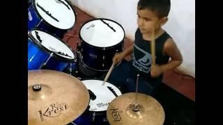O hino Fernandinho na bateria por Emanuel no Aviva jovem Paz